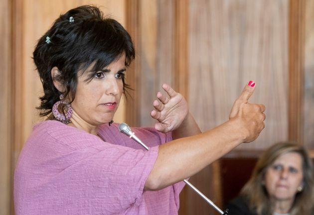 La coordinadora de Podemos Andalucía, Teresa