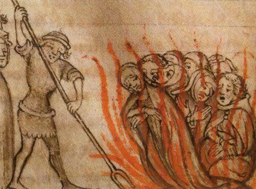 Οι ιππότες στην πυρά