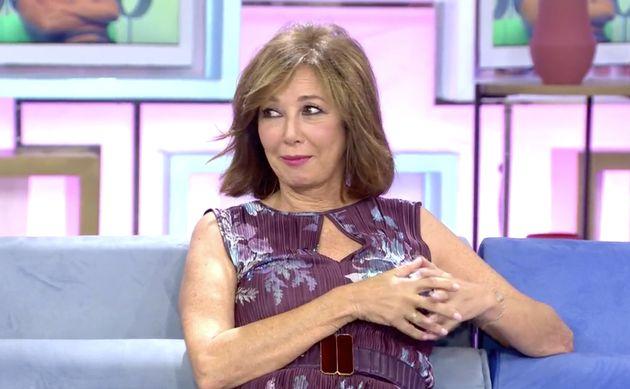 La presentadora Ana Rosa Quintana, alucinando con