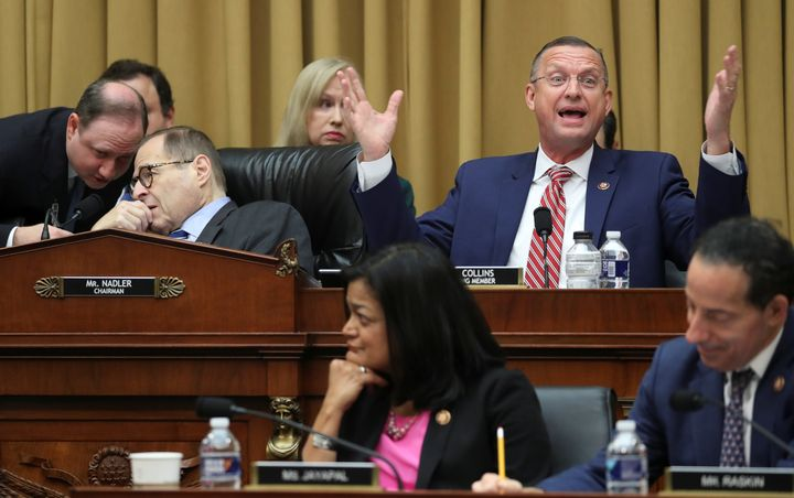 House Judiciary Committee ranking member Rep. Doug Collins (R-Ga.) speaks Thursday as Chairman Jerry Nadler (D-N.Y.) speaks w