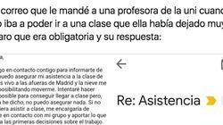 La respuesta de una profesora al correo de una alumna: ni ella misma se lo