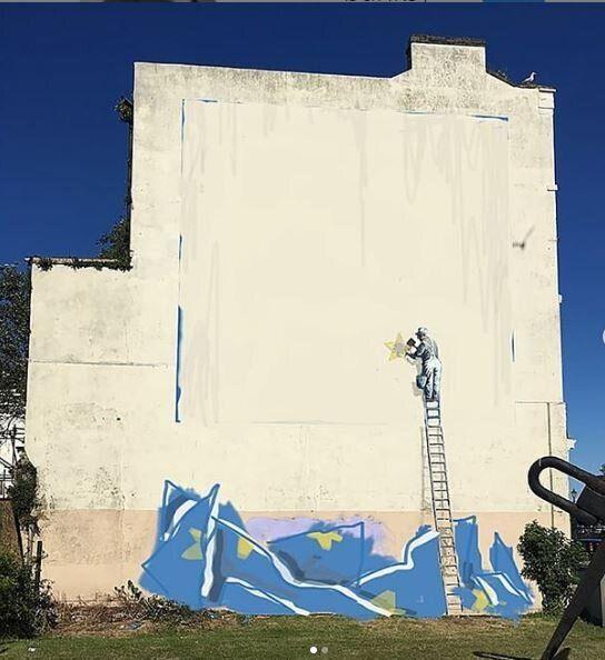 Il murales che Bansky aveva in
