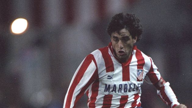 23 Oct 1991: Paulo Futre of Atletico Madrid in action during a Spanish League match. \ Mandatory Credit:...