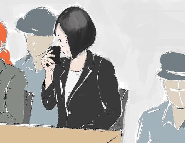 自身の父親が語った結愛ちゃんとの思い出を聞く船戸優里被告=2019年9月6日、東京地裁
