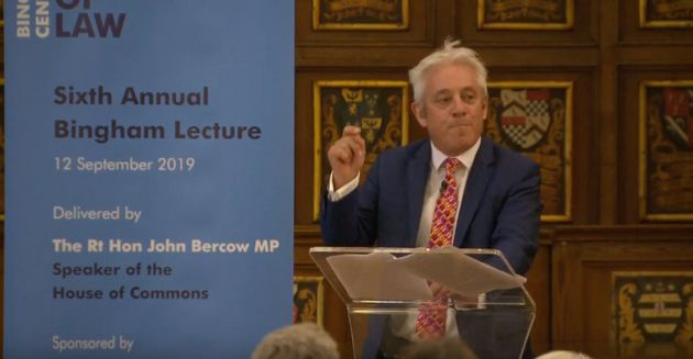 John Bercow Compares Prospect Of Boris Johnson Ignoring Law Blocking No-Deal Brexit To Robbing A Bank