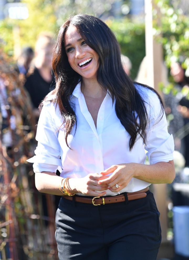 Britain's Meghan, Duchess of Sussex, attends the launching of the Smart Works capsule collection in London, Britain September