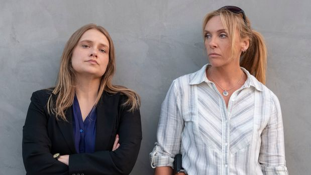 """Merritt Wever and Toni Collette in """"Unbelievable"""""""