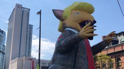 Ce ballon de Trump en rat dans les rues de Baltimore n'était pas là par