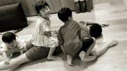 소유진이 '백종원과 세 아이'의 추석 풍경을
