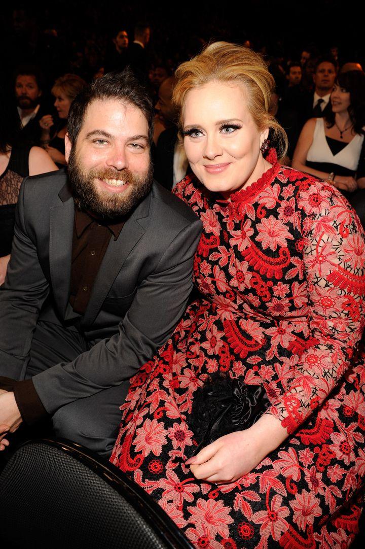 Adele with estranged husband Simon Konecki