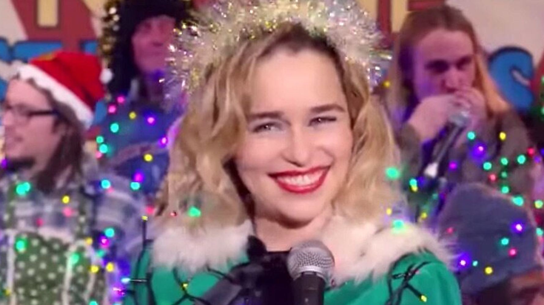 Westlake Legal Group 5d7b53663b0000c49fd2350f Emilia Clarke Sings Spine-Tingling Rendition Of 'Last Christmas' In New Trailer