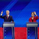 Joe Biden And Elizabeth Warren Spar On Stage For First Time In Key Democratic