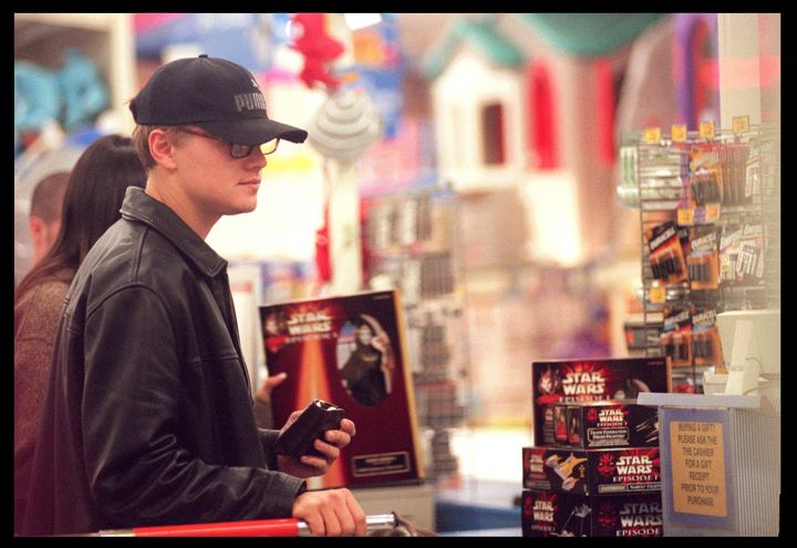 05/03/99. Santa Monica, CA. Leonardo DiCaprio shops for Star Wars Toys at the ''Toys R'' Us'' store at 1-30 am in the morning.
