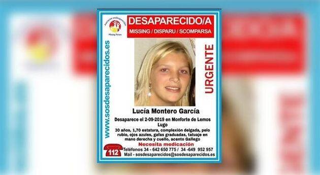 Lucía Montero, la joven desaparecida en Monforte de