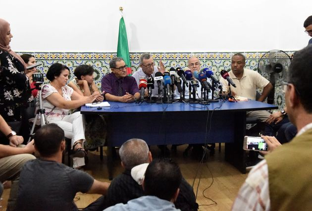 Members of the body to lead the crisis dialogue in Algeria meet for the first time with activists of...