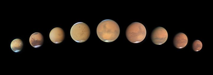 Death of Opportunity, Andy Casely.<br /><br />This is a sequence of images through the perihelic opposition of Mars in 2018 that follows the progress of the great global dust storm, which proved to be detrimental for the Opportunity Mars rover, which exceeded its planned lifespan by 14 years.&nbsp;