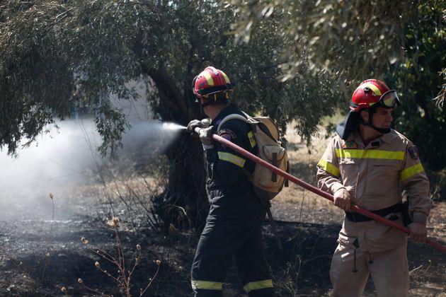 Μεγάλη φωτιά στο Λαγονήσι - Ζημιές σε