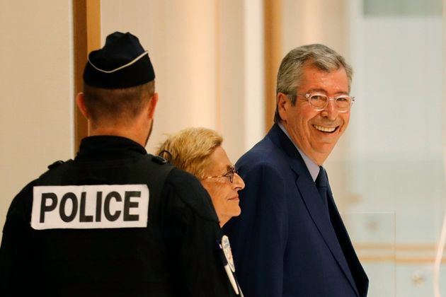 Patrick et Isabelle Balkany à leur arrivée au tribunal correctionnel de Paris pour assister...