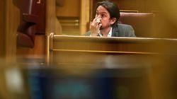 Pablo Iglesias muestra en una foto en qué condiciones ha visto el partido de España de