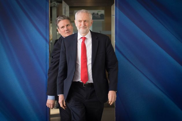 Labour leader Jeremy Corbyn (right) and shadow Brexit secretary Sir Kier Starmer in Brussels ahead of...