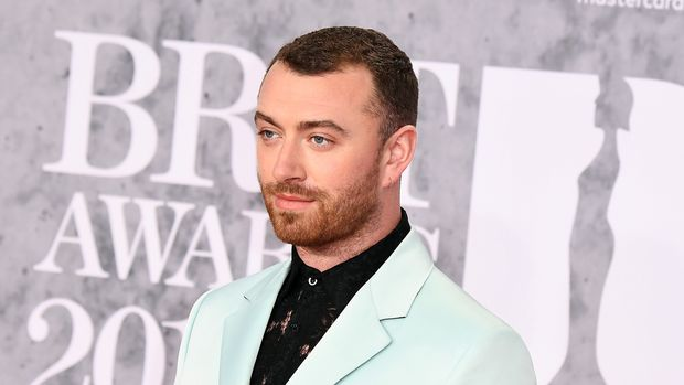 LONDON, ENGLAND - FEBRUARY 20: (EDITORIAL USE ONLY) Sam Smith attends The BRIT Awards 2019 held at The O2 Arena on February 20, 2019 in London, England. (Photo by Jeff Spicer/Getty Images)