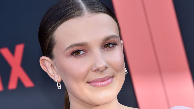 "British actress Millie Bobbie Brown attends Netflix's ""Stranger Things 3"" premiere at Santa Monica high school Barnum Hall on June 28, 2019 in Santa Monica, California. (Photo by Chris Delmas / AFP)        (Photo credit should read CHRIS DELMAS/AFP/Getty Images)"