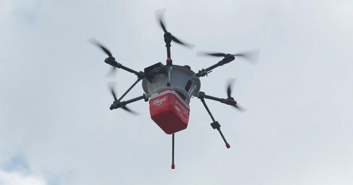 iFood já faz testes para fazer entregas usando drones