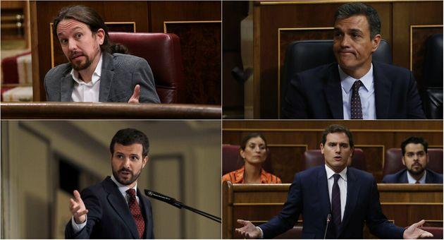 Sánchez, Iglesias, Casado y