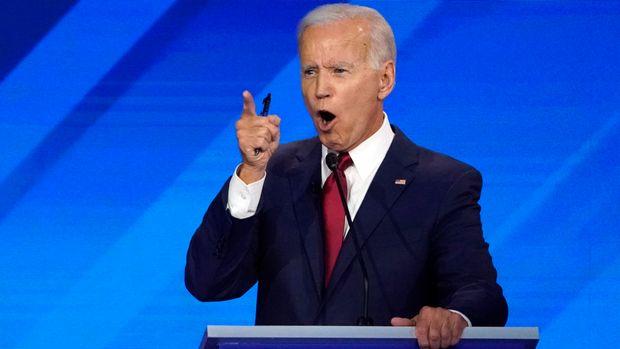 Former Vice President Joe Biden speaks during the 2020 Democratic U.S. presidential debate in Houston, Texas, U.S. September 12, 2019. REUTERS/Mike Blake