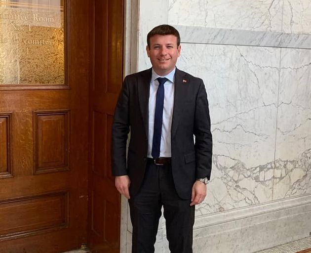 Ontario MPP Roman Baber poses at Queen's Park in Toronto in this Facebook