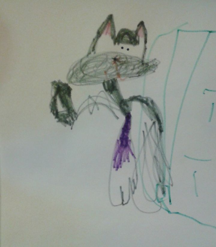 Adam Essien shares a picture drawn by his five-year-old son. He says his son has fantastic visual and spatial skills.