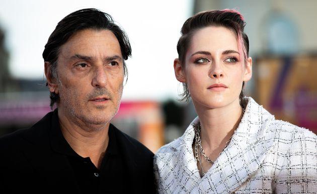 Kristen Stewart et Yvan Attal sur le tapis rouge du 45e festival du cinéma américain de...
