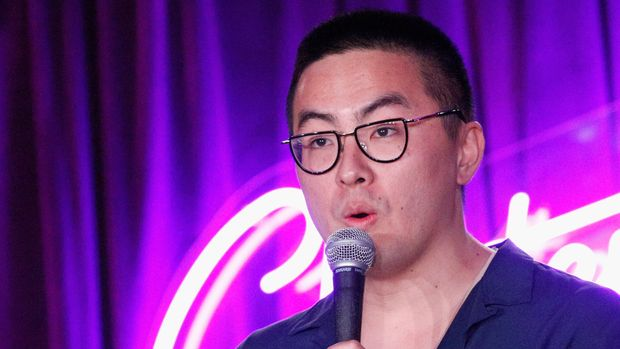 SAN FRANCISCO, CA - JUNE 02:  Bowen Yang performs onstage during 'The Joy Fck Club' in the Room 415 Comedy Club during Clusterfest at Civic Center Plaza and The Bill Graham Civic Auditorium on June 2, 2018 in San Francisco, California.  (Photo by FilmMagic/FilmMagic)