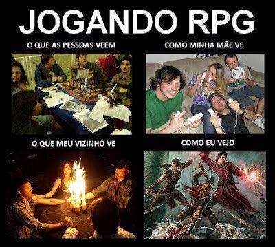 Meme que os aficionados de RPG adoram