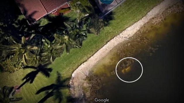 行方不明者が遺体で発見される手掛かりとなったグーグルアースの画像
