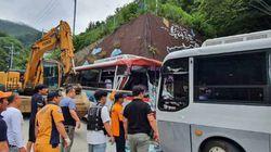 울릉도 버스 2대 정면충돌로 34명이 중·경상을