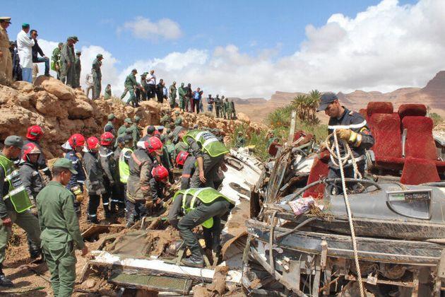 Renversement d'un autocar à Errachidia: Trois nouveaux corps retrouvés