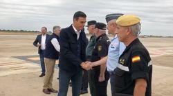Pedro Sánchez visita las zonas más afectadas por la gota fría en Alicante y