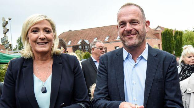 Marine Le Pen à Hénin-Beaumont en compagnie de Steeve