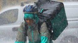 La foto de un 'rider' bajo la gota fría que no te debes
