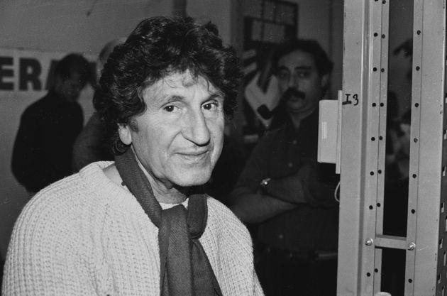 FRANCE - 1989: Marcel Mouloudji (1922-1994), French singer. Book fair in Brive-la-Gaillarde (Correze),...