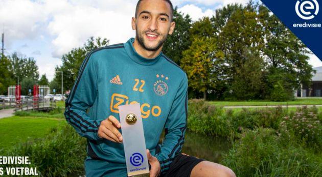 Championnat des Pays-Bas: Hakim Ziyech meilleur joueur du mois d'août