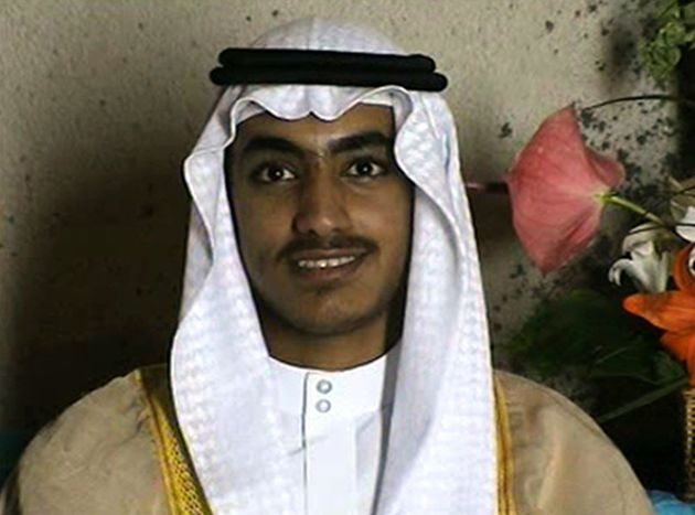 In this image from video released by the CIA, Hamza bin Laden is seen as an adult at his wedding. The...