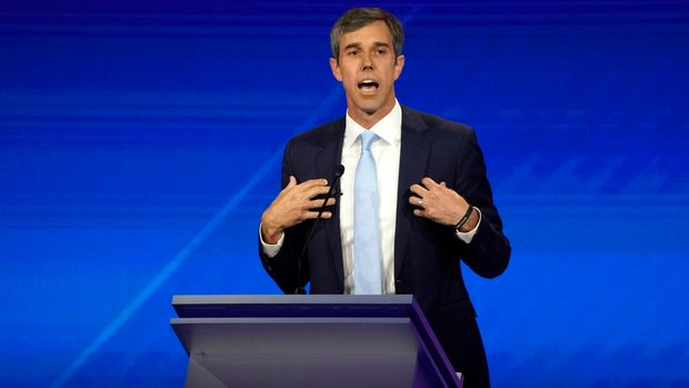 Former Rep. Beto O'Rourke speaks during the 2020 Democratic U.S. presidential debate in Houston, Texas, U.S., September 12, 2019. REUTERS/Mike Blake