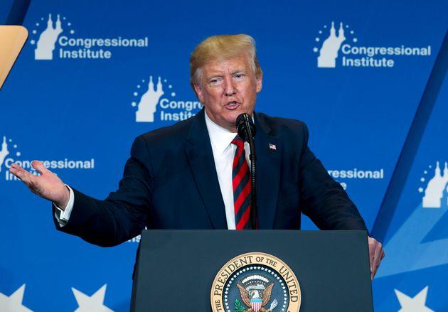 Dans cette photo d'archives du 12 septembre 2019, le président Donald Trump prend la parole à