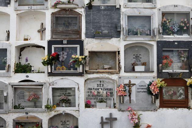 El terrible efecto que han tenido las lluvias en el cementerio de Denia