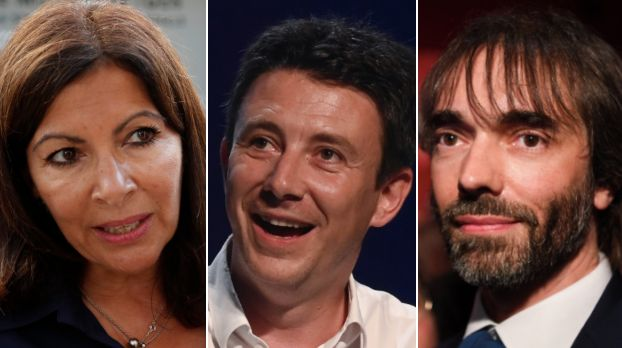 Anne Hidalgo (ici le 25 août) devance Benjamin Griveaux (ici le 18 juillet) et Cédric Villani (ici le...