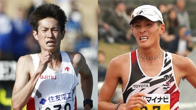 過去の資料写真より、中村匠吾(左)と服部勇馬