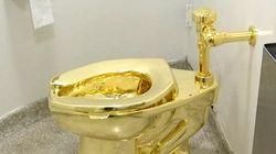 """「黄金の便器」盗まれる。ロイターは""""5億円の価値""""と報道"""