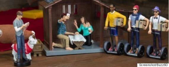 Hipster Nativity Scene Includes Selfies, Segways And Skinny